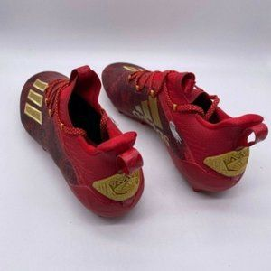 Adidas Adizero EF8607 Mens Red Gold Cleats Shoes
